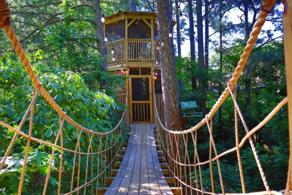 Sleep Up In The Trees At This Unique Treehouse Holiday Rental In Georgia